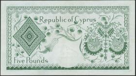 Zypern / Cyprus P.40 5 Pounds 1961 (3+)