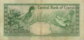 Zypern / Cyprus P.48b 10 Pounds 1983 (3-)