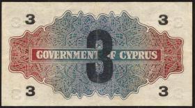 Zypern / Cyprus P.26 3 Piastres 1941 (2)