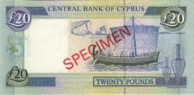 Zypern / Cyprus P.63s 20 Pounds 1997 (1)