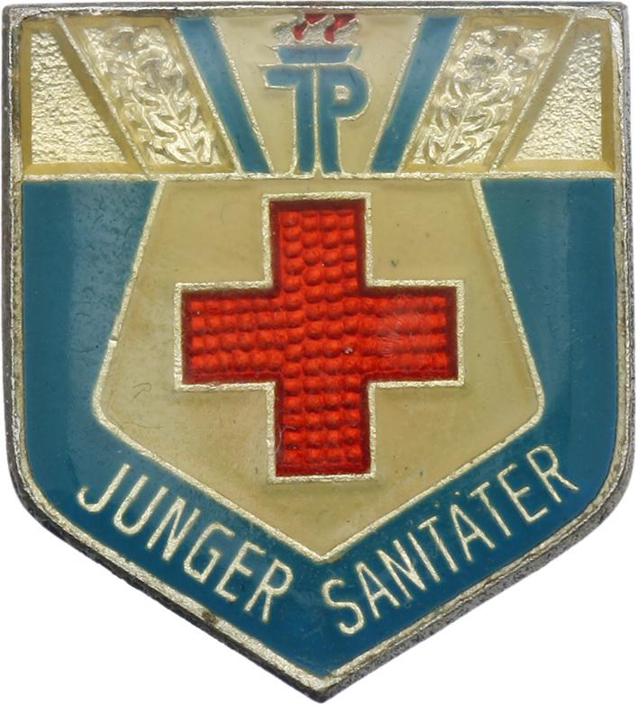 B.2203d Abzeichen Junger Sanitäter - Silber | {Sanitäter symbol 98}
