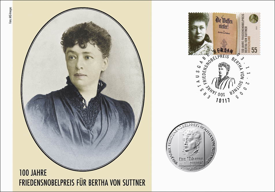 V 075 Bertha Von Suttner Friedensnobelpreis