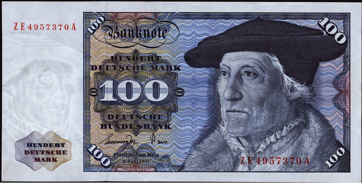 R 278b 100 DM 1977 ZE Ersatznote (2)