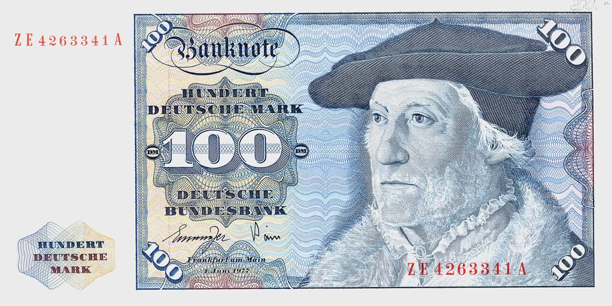 R 278b 100 DM 1977 ZE Ersatznote (1)