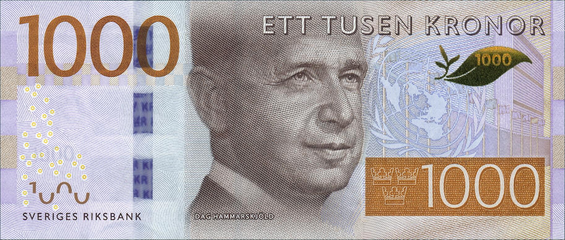Schweden Sweden P 74 1000 Kronen 2015 1