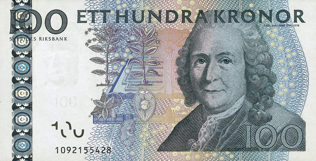 Schweden Sweden P 65a 100 Kronen 2001 1