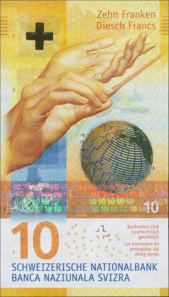 Schweiz Switzerland P75 10 Franken 2016 1