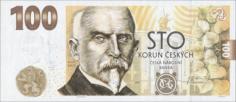 100 Tschechische Kronen Euro