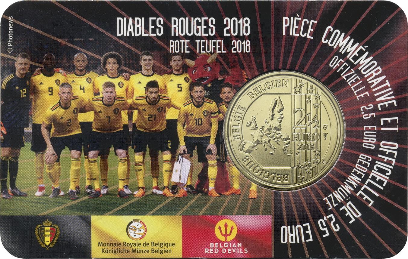 Belgien 25 Euro 2018 Rote Teufel Coincard