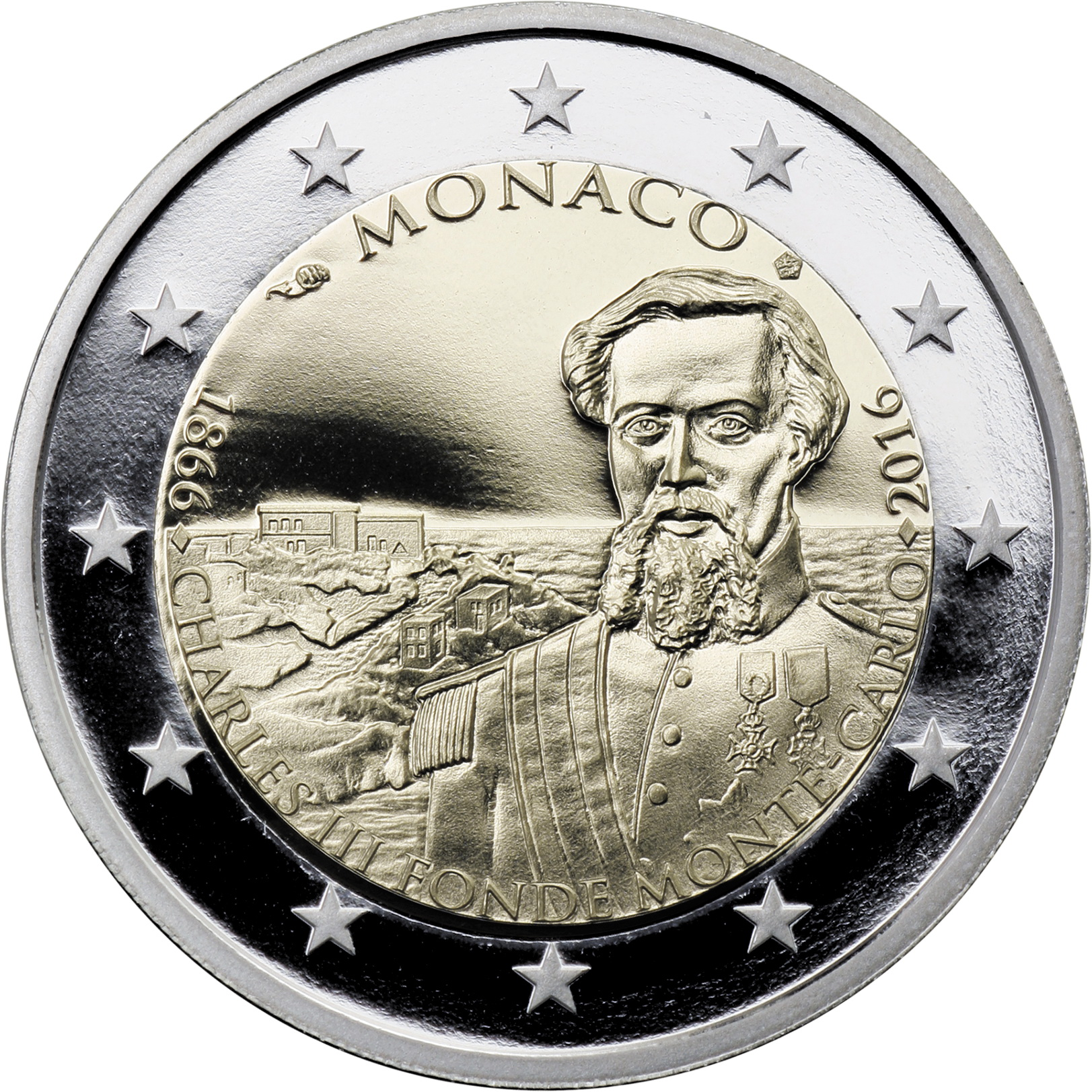 monaco 2 euro 2016 150 jahre monte carlo. Black Bedroom Furniture Sets. Home Design Ideas